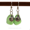 A simple pair of Genuine Sea Glass Earrings, great for any true beach lover!