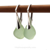 A thicker smaller shaped natural sea glass earring pair.