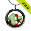 Green beach found sea glass and a real starfish and beach make this a great locket necklace for the holidays. SOLD- Soryr this Sea Glass Locket has been SOLD!