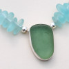 Necklace detail. A perfect seafoam green piece set in fine and sterling silver.