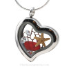 Our new heart lockets make this Rare Ruby Red Genuine Sea glass really shine! Free Floating and changing like the tide, this piece includes genuine top quality CZ Gems (the ice) and a piece of rare beach found red (fire) sea glass.