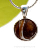 Great semi opaque rich chocolate brown and opaque white make this an interesting piece perfect for any Sea Glass Lover.