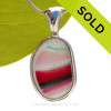 L-A-R-G-E SUPER ULTRA ULTRA RARE Genuine Seaham Sea Glass 3 Color Multi set in our Deluxe Wire Bezel© Pendant Setting. SOLD - Sorry this Ultra Rare Sea Glass Pendant is NO LONGER AVAILABLE!