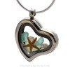 This is the EXACT Sea Glass Locket Necklace you will receive!