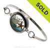 Tiny aqua and seafoam sea glass  and a real starfish in this one of a kind sea glass bangle bracelet!  SOLD - Sorry this Sea Glass Bangle Bracelet is NO LONGER AVAILABLE!
