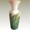 An Example of James Lundberg Art Glass in the Magnolia Pattern. Most likely what this Sea Glass piece started out as.