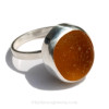 It was hard to catch the beauty of this sea glass ring, it really does glow!