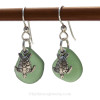 This is the EXACT one of a kind pair of Sea Glass Earrings you will receive!