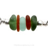 Detail of this Sea Glass Bangle Bracelet