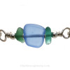 A close up detail of the Genuine Sea Glass Bracelet.