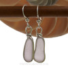 Pale Purple ( or amethyst) sea glass pieces from a beach in Maine are set in our signature sterling silver Original Wire Bezel© setting.