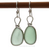 This is the EXACT pair of Vivid Seafoam Sea Glass Earrings you will receive!
