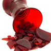 P-E-R-F-E-C-T Petite Royal Ruby Red Genuine English Sea Glass Earrings In 14K G/F Original Wire Bezel©