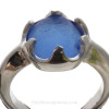 """A macro closeup of this Sea Glass Ring shows you the telltale """"C""""'s that let you know it is Natural Sea Glass"""