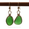 This is the EXACT pair of Green Sea Glass Earrings you will receive!