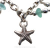 The large heavy solid sterling Stafish charm finishes the bracelet.