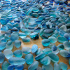 Sorting Seaham Multie sea glass for earrings. It can take hundreds of pieces of sea glass to find a perfect match. All of our sea glass is UNALTERED from the way it was found on the beach!