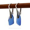 These are the EXACT pair of Blue Sea Glass Earrings you will receive!