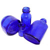 Most blue sea glass originated as some type of commercial product that dates from the 60's and back. Products like Bromo Seltzer, Phillips Milk of Magnesia, Vicks Vapor Rub and Noxzema Cold Cream came in the lovely blue color. Coastal residents one discarded trash into the sea, thus creating these amazing Sea Sapphires many years later!