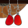 A beautiful match of deep Vivid Red sea glass from England. Red is the hope diamond of sea glasses and this perfect pair is a treasure for any sea glass lover!