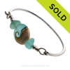 SOLD - Sorry this Sea Glass Bangle Bracelet is NO LONGER AVAILABLE!