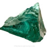 This is an example of blue green slag glass that may have been what this sea glass piece started out as.