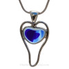 Stunning and rare natural sea glass heart in a rare sea glass color!