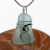 A stunning and LARGE PERFECT Genuine Aqua Sea Glass Pendant set in our Signature Waves© setting in Sterling Silver.
