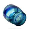 Spring Tidelines - ULTRA RARE Large Blue Multi Sea Glass Necklace Pendant In S/S Original Wire Bezel©