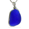A very thick piece of naturally found sea glass. SOLD - Sorry This Sea Glass Jewelry Item is NO LONGER AVAILABLE!