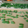 Sorting sea glass for earrings takes hours upon hours. We not only match for shape, size and color but also for degree of frost, quality and thickness. It can take hundreds of pieces of sea glass of similar size to find just one pair.