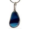 A mixture of deep blue and purple with a splash of aqua,