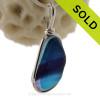 Midnight Purple Rain - Rare 3 Color + Multi Seaham Sea Glass In Sterling Silver Original Wire Bezel©