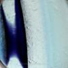 Mini Petite Cross Sectioned Seaham Sea Glass Necklace Pendant In S/S Original Wire Bezel©