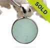 Sea World - Genuine Beach Found Seaglass Codd Marble In Deluxe Wire Bezel© Necklace Pendant