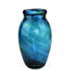 An example of an intact 1800's Hartley Wood Streaky Vase, the verified source of this amazing bold colored sea glass.