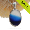 Fade To Black - Ultra Rare Vivid Mixed English Sea Glass In Sterling Deluxe Wire Bezel© Pendant