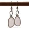 This is the EXACT pair of Peach Sea Glass Earrings you will receive!