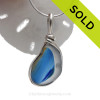 Slice of Sunshine- Tricolor Ultra Rare Mixed Seaham Sea Glass Sterling Original Wire Bezel© Pendant Necklace (