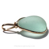 A side view of this sea glass jewelry piece shows you the extra large bail and that the piece is open both front and back.
