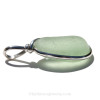 The side view of this piece shows you the bail opening and thickness of the sea glass.