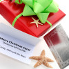 Choose from FREE  Premium aqua or holiday Red Gift Wrapping