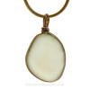This is the EXACT white Sea Glass Pendant you will receive!