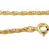 This pendant comes with this FREE gold plated rope chain but you can upgrade to a solid sterling chain.
