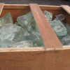 Slag or Cullet glass are lumps of unfinished glass used in glassmaking.