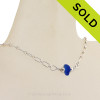 Simply Sea Glass - Lucky Blue Sea Glass Necklace on Solid Sterling Silver SOLD - Sorry this Sea Glass Necklace is NO LONGER AVAILABLE!!!