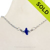 Simply Sea Glass - Cobalt Blue Sea Glass Necklace on All Solid Sterling Silver. SOLD - Sorry this Sea Glass Necklace is NO LONGER AVAILABLE!