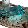 Many Sea Glass Pieces of this color originates from old bottles.