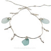 3 piece of natural sea glass and real pears on this stunning Sea Glass Necklace