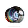 Rainbow Love - Ultra Rare Seaham Multi Sea Glass Heart In Deluxe Sterling Double Bezel© Pendant